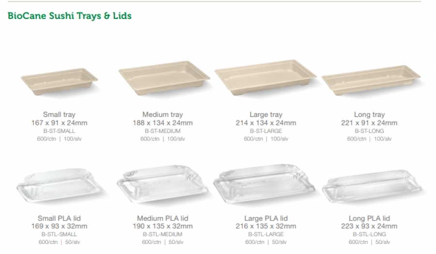 NEW TO DSW -  COMPOSTABLE SUSHI BOXES